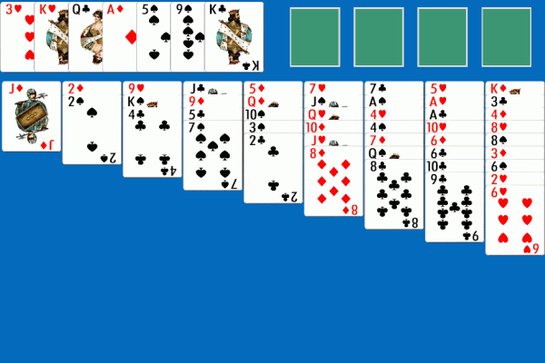 Idiot's Delight Solitaire 1